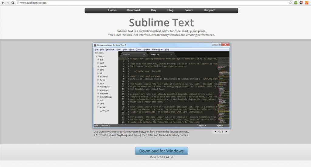 editor para blogs sublime