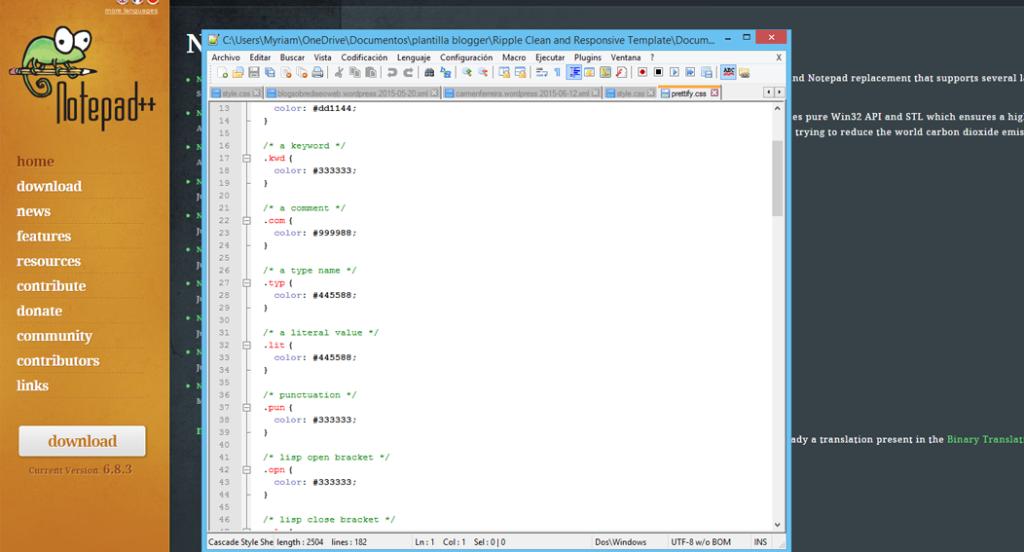 note pad para editar codigo en blogs