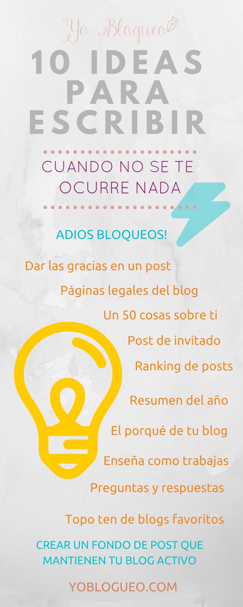 temas para escribir en tu blog.
