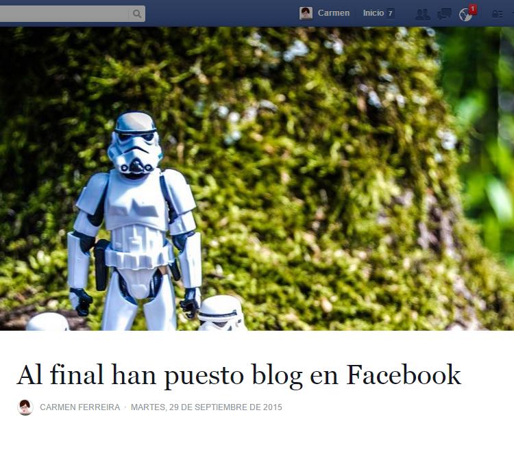 Facebook incluye la fución de blog