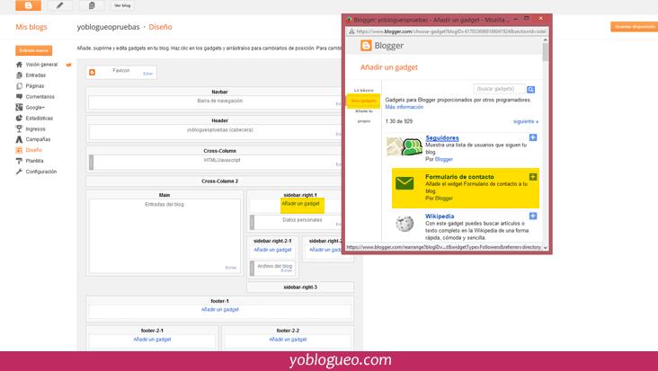 hecer un página de contacto en blogger