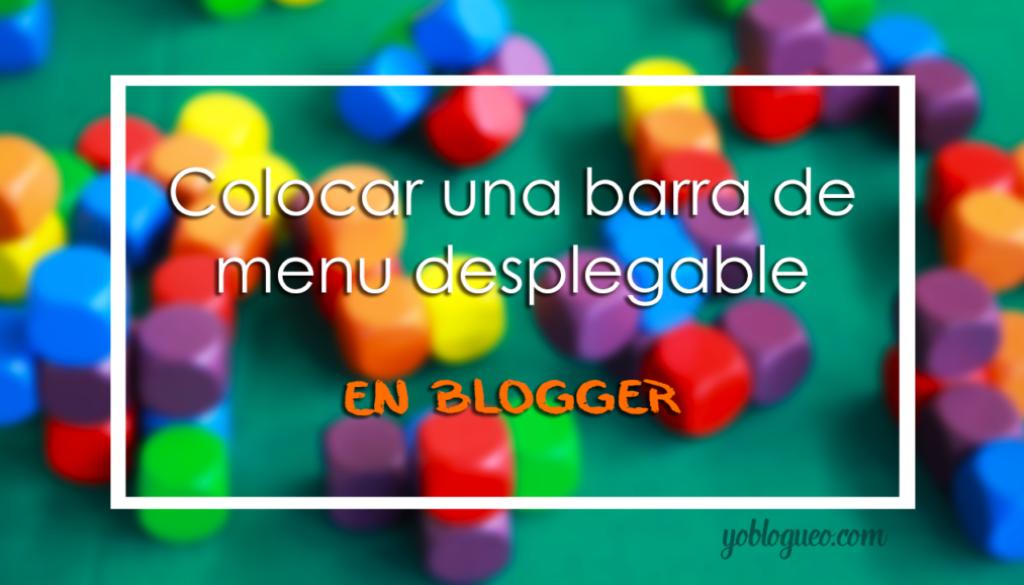 barra de menu blogger