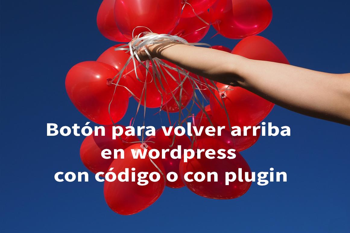 Botón para volver arriba en wordpress