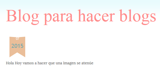 fecha bloger