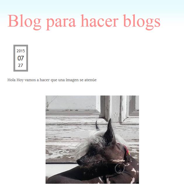 fecha en blogger
