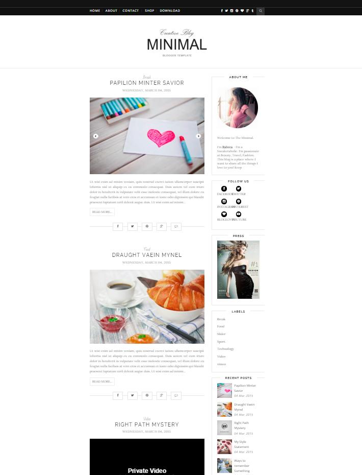 plantilla gratis blogger