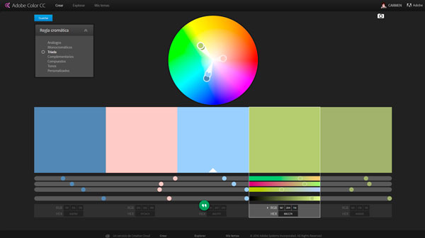 como elegir colores para blogs