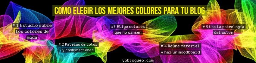 elegir los mejores colores para tu blog