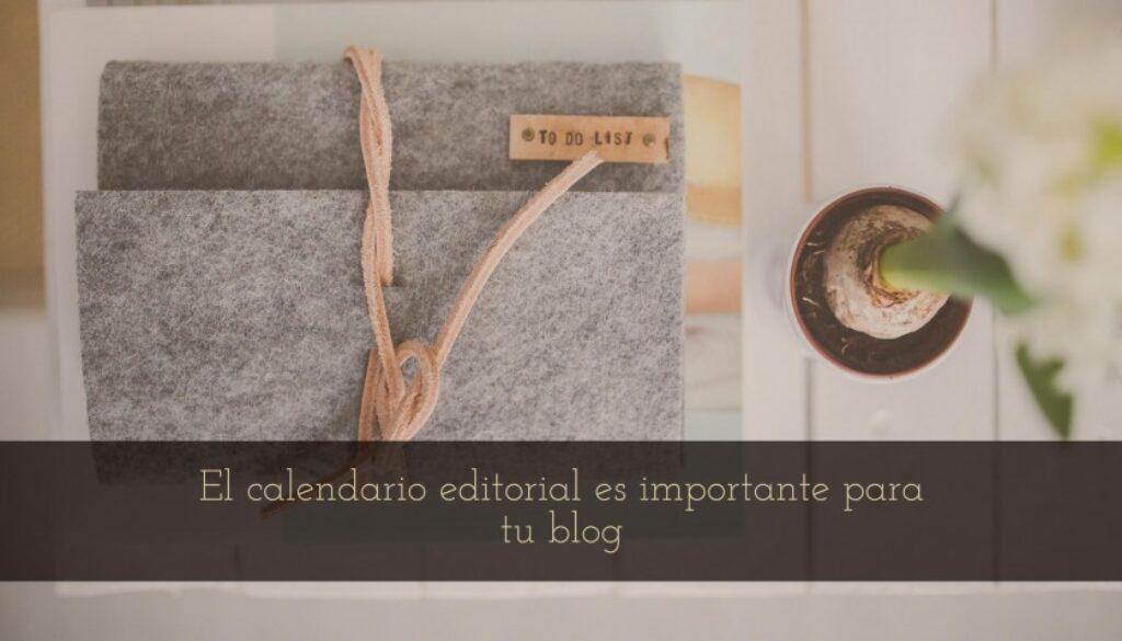 calendario editorial para tu blog