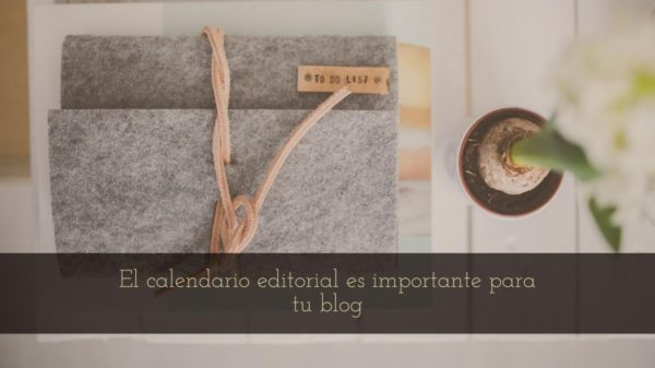 calendario editorial para tu blog