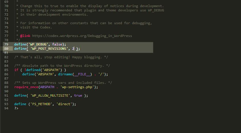editar wp-config.php