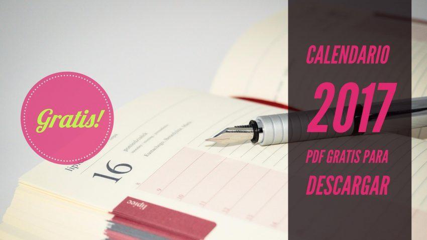 Calendario 2017 gratis con planner