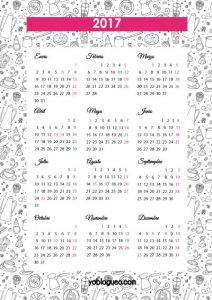 2017 calendario pared pdf