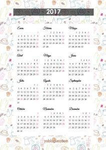 calendario gratis 2017 impresora