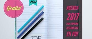 agenda 2017 gratis para imprimir pdf e interactiva