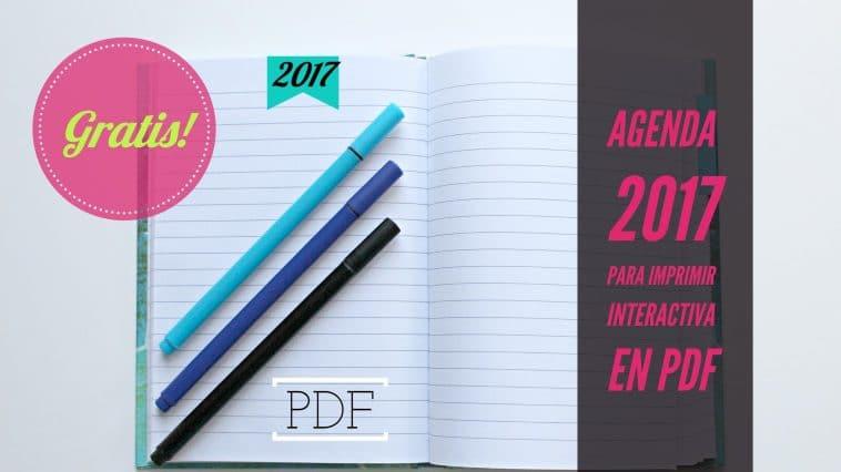 Agenda 2017 en pdf y agenda 2017 PDF interactiva para descargar gratis