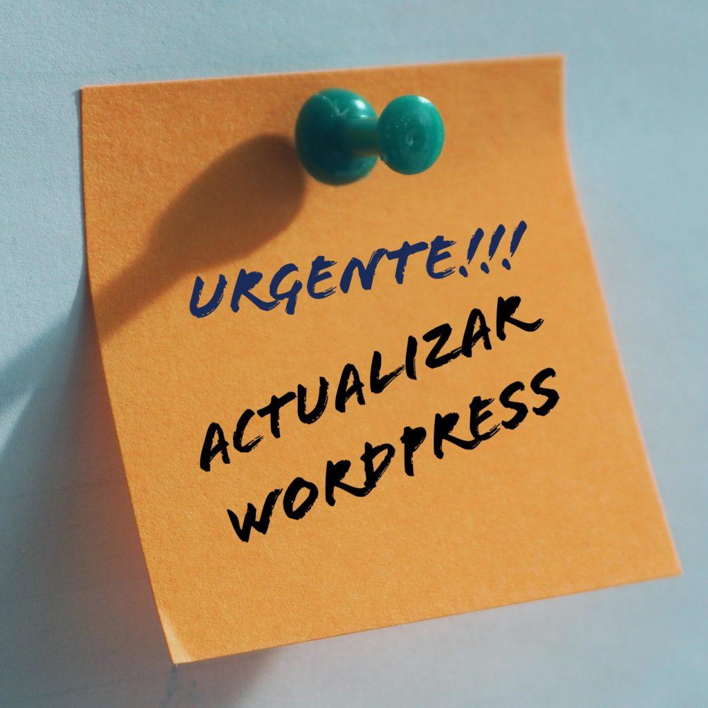 debo actualizar a la última versión de wordpress.