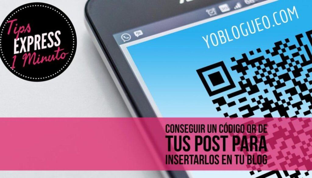 Como conseguir un código QR de tus post para insertarlos en tu blog