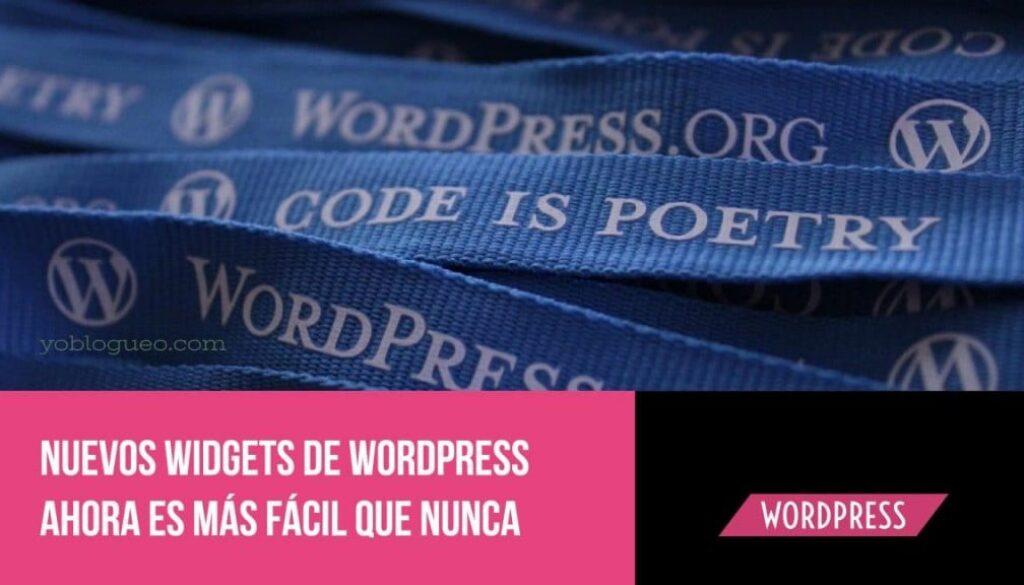 nuevos widgets de wordpress