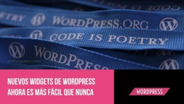 nuevos widgets de wordpress