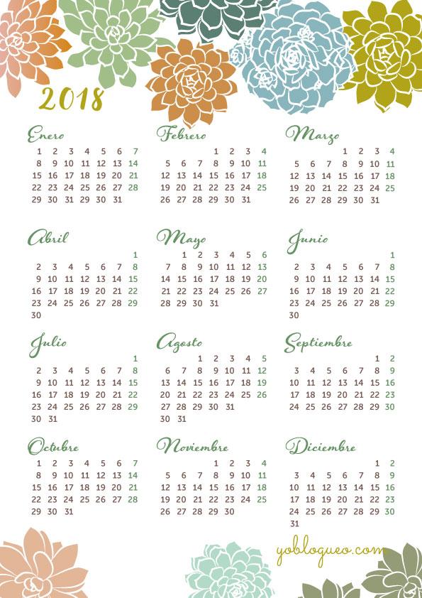 calendarios bonitos gratis