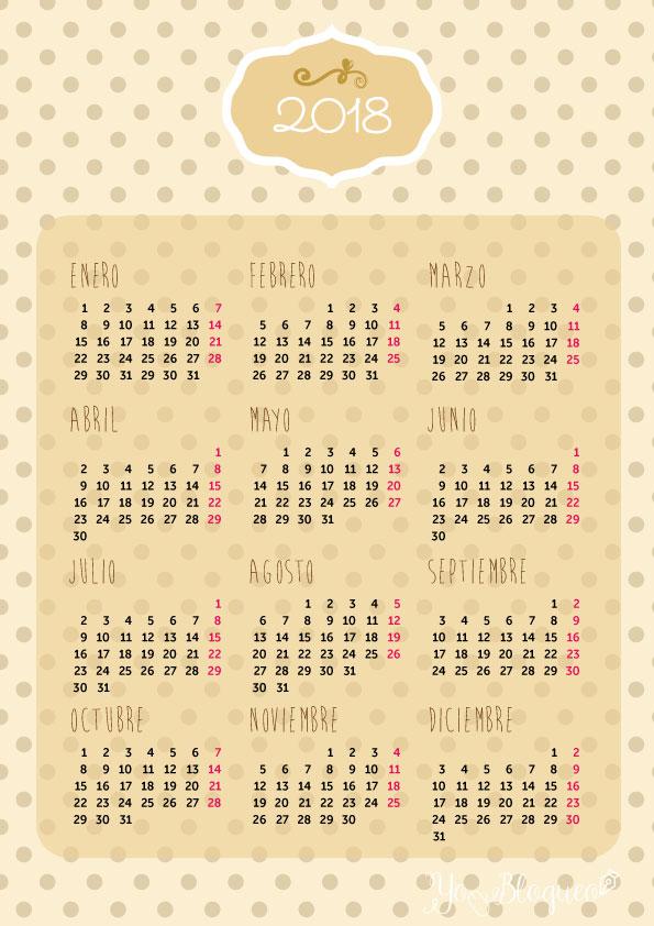 calendarios-2018-gratis-imprimir-vainilla