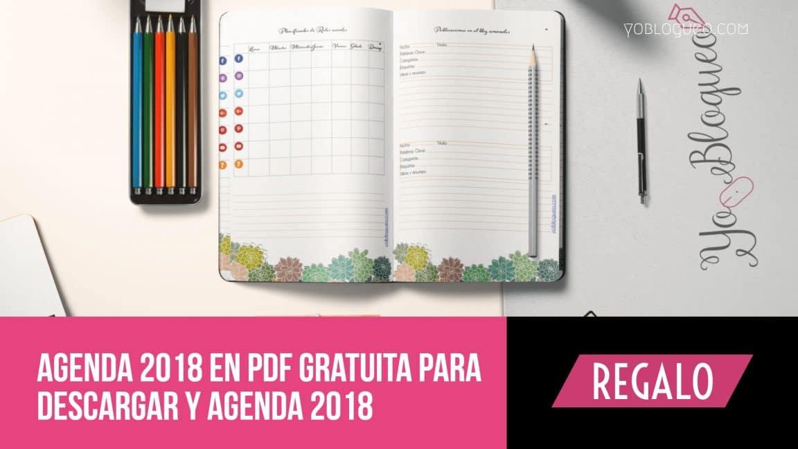 Agenda 2018 en PDF gratuita completa para descargar