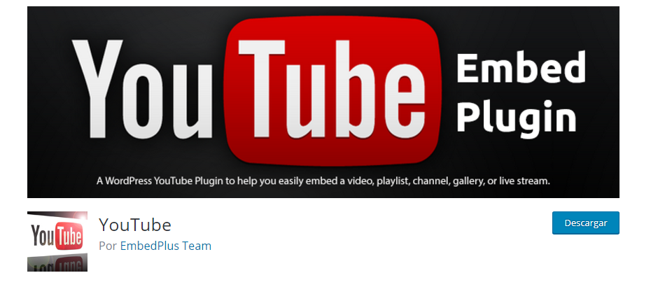 plugins para poner youtube en wordpress