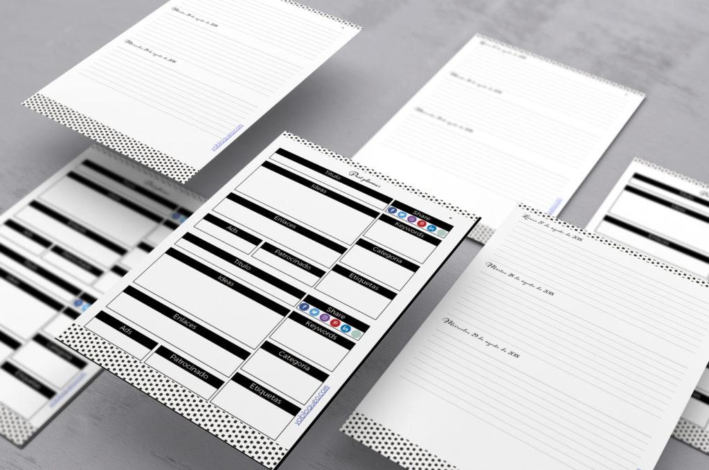Agenda 2019 para imprimir en PDF gratis con 380 páginas | Freebies ...