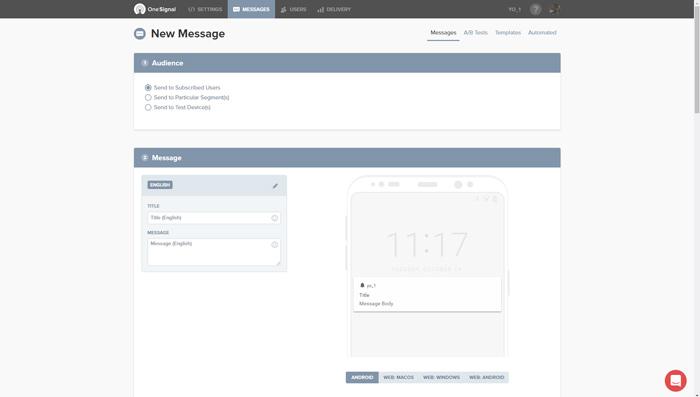 como mandar mensajes push a tus lectores