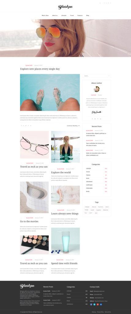 plantilla wordpress gratuita de moda