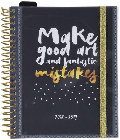 agenda 2019 dorada y negra