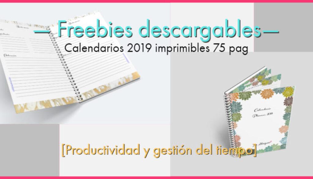 Calendario 2019 en PDF para imprimir gratis con planner semanal en varios modelos