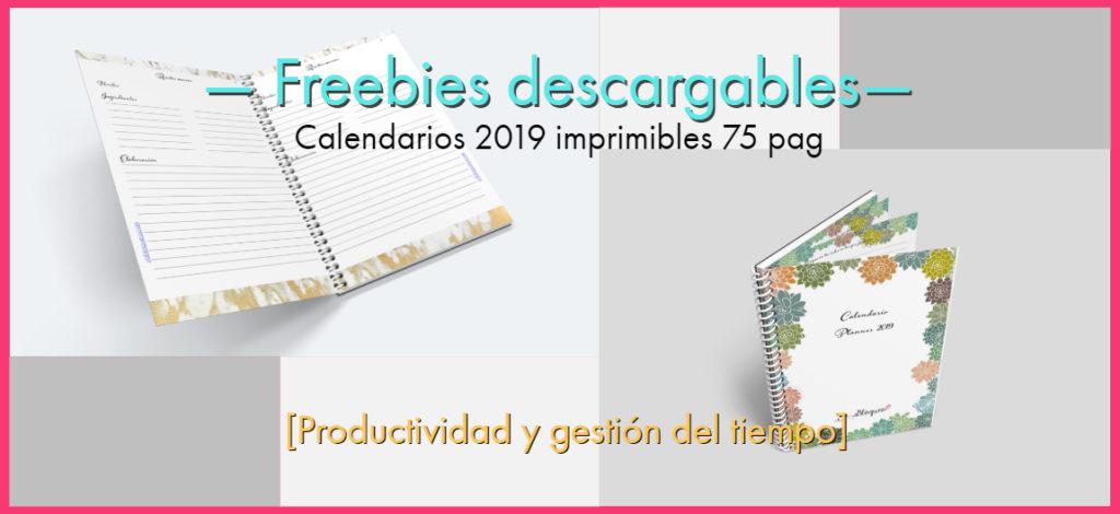 Calendario Diario Para Imprimir 2019.Calendario 2019 En Pdf Para Imprimir Gratis Con Planner Semanal
