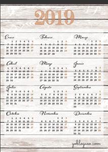 calendario-2019-gratis-madera