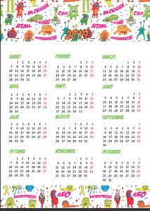 Calendario 2019 Chile Con Feriados Para Imprimir.Calendario 2019 En Pdf Para Imprimir Gratis Con Planner Semanal
