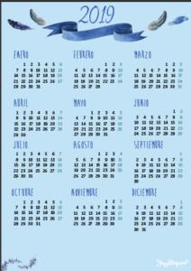 calendario tamaño folio para imprimir