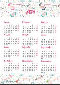 calendario-2019-unicornios