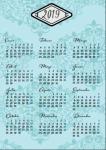calendario 2019 para descargar gratis PDF