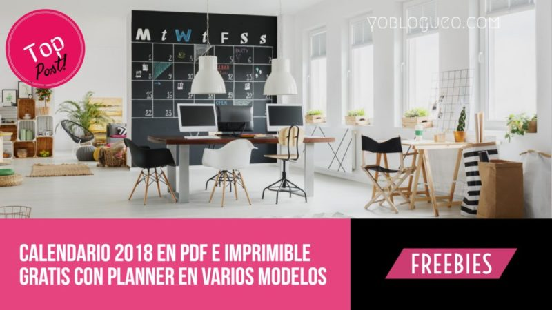 calendario planner 2018 descargar gratis