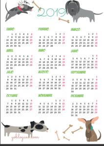 calendarios-imprimible-de-perros--tamaño-folio-2019