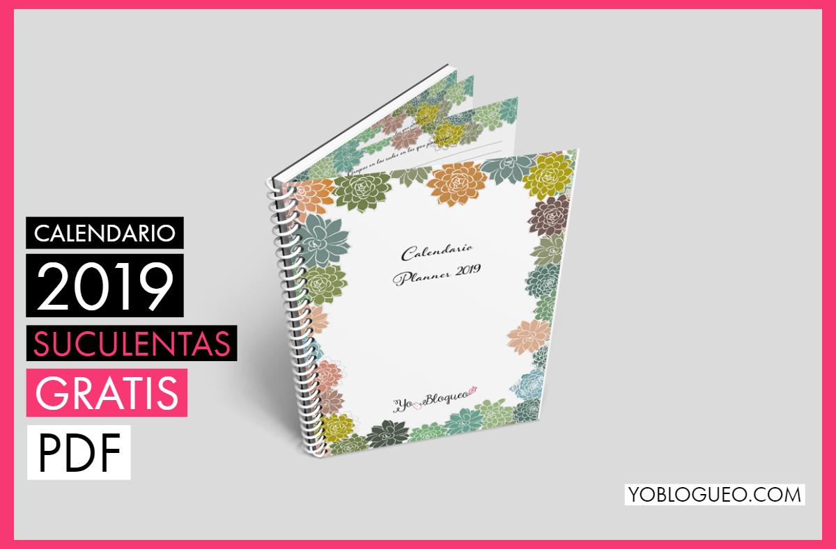Calendario 2019 suculentas 75 páginas