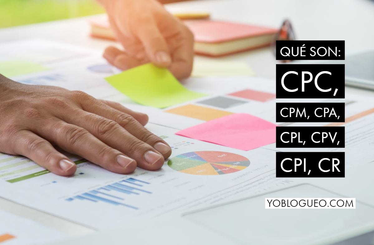 CPC, CPM, CPA, CPL, CPV, CPI, CR
