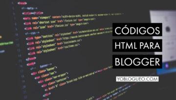 Códigos html para blogger