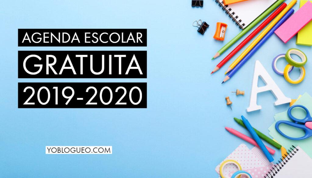 Agenda Escolar Gratuita 2019 2020 En Pdf Para Descargar Varios