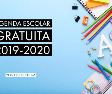 Agenda escolar gratuita 2019-2020 en PDF para descargar varios modelos