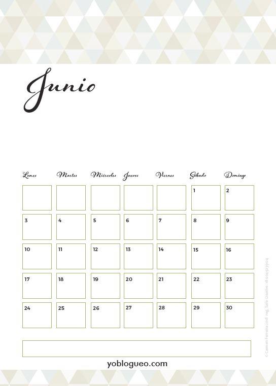 calendario junio 2019 claro