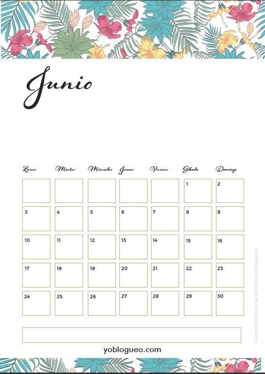calendario junio 2019 tropical