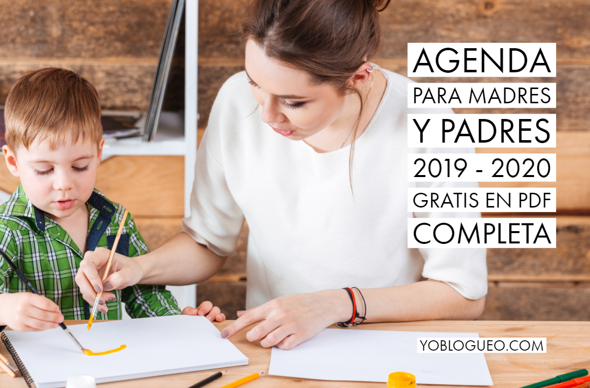 Agenda para madres y padres 2019 - 2020 gratis en PDF completa