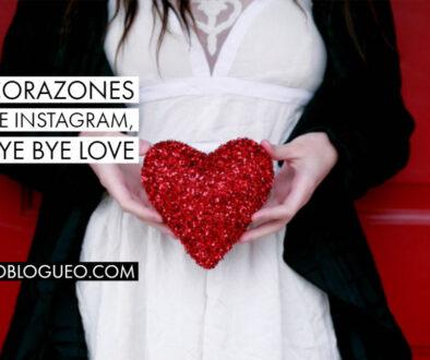 Corazones de instagram, bye bye love